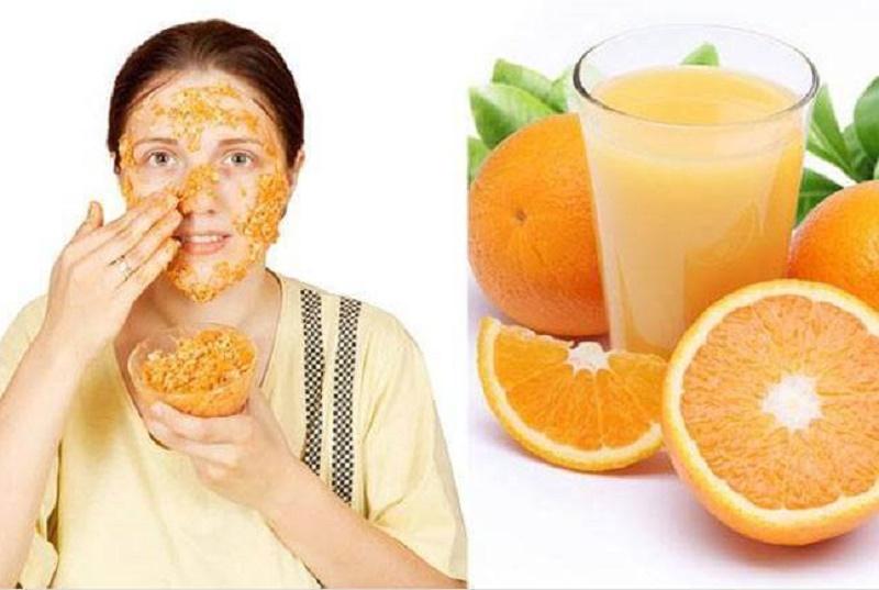 Orange peel and juice for pimple treatment