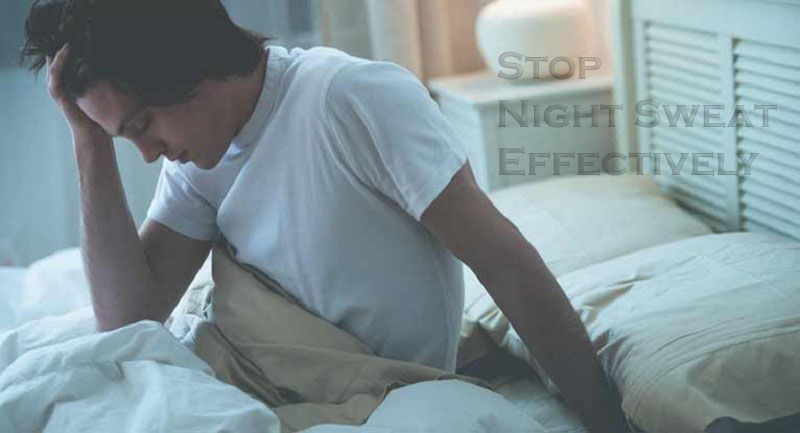 how to stop night sweat effectively?