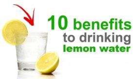 benefits of water and lemon