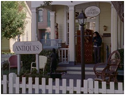 At Kim's Antiques in Stars Hollow.