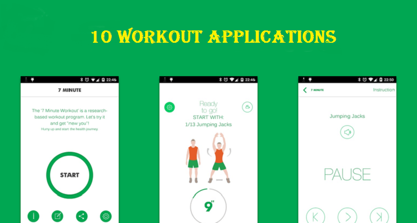 The 10 workout applications that work as an exercise assistant