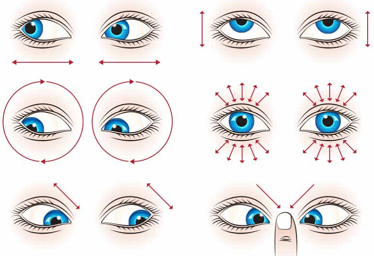 Exercises for the eyes