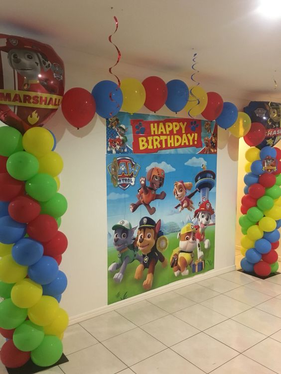 Balloons and images Paw Patrol