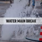 What to do after a water main break