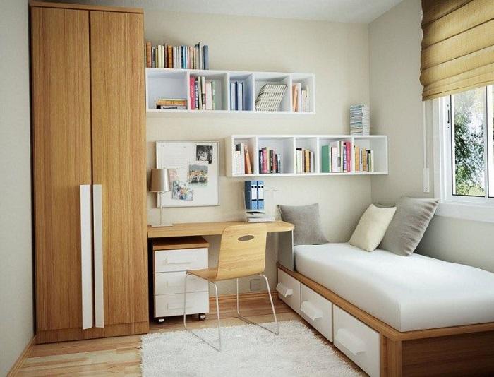 minimalist student room