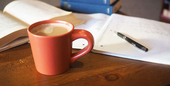 drink coffee to study