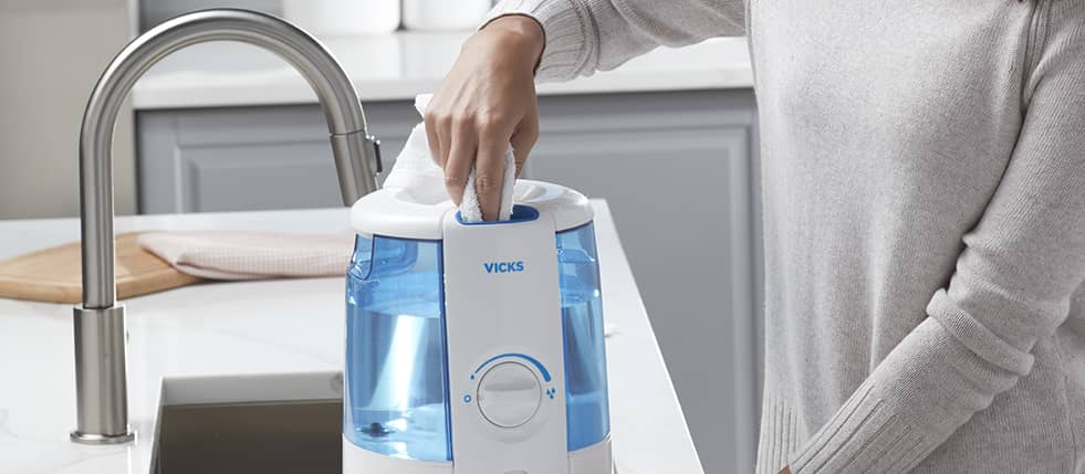 How to clean vicks humidifier?